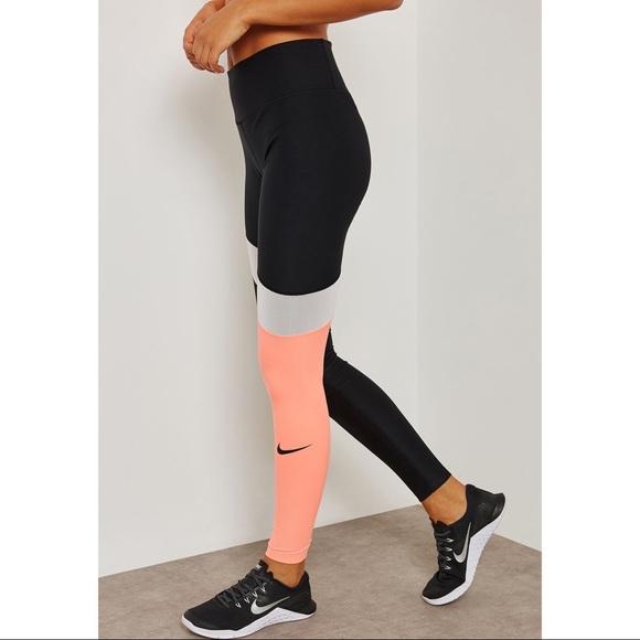 67b0aa6062ab4 Nike Pants   Power Colorblock Leggings   Poshmark